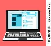 social network vector concept.... | Shutterstock .eps vector #1126212536