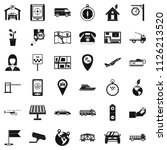 navigation equipment icons set. ... | Shutterstock . vector #1126213520