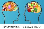vector unhealthy junk food and... | Shutterstock .eps vector #1126214570