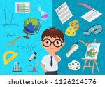 flat style of diligent... | Shutterstock .eps vector #1126214576