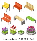 colorful design of arranged... | Shutterstock .eps vector #1126214663