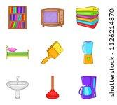 internal stuff icons set.... | Shutterstock . vector #1126214870