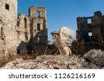 lesser kestrel  female  falco...   Shutterstock . vector #1126216169