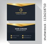 business model name card luxury ... | Shutterstock .eps vector #1126218710