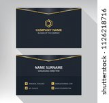 business model name card luxury ... | Shutterstock .eps vector #1126218716