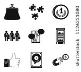 gain icons set. simple set of 9 ...   Shutterstock . vector #1126221080