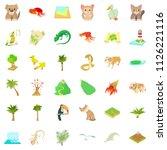 eco vegetation icons set.... | Shutterstock . vector #1126221116