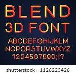 3d alphabet. vector set of... | Shutterstock .eps vector #1126223426