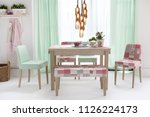 decorative dining table and...   Shutterstock . vector #1126224173