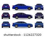 realistic cars set. sedan.... | Shutterstock .eps vector #1126227320