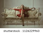 realtor company. woman realtor... | Shutterstock . vector #1126229963