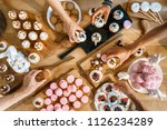 many different confectionery...   Shutterstock . vector #1126234289