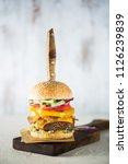 home made hamburger  big burger ...