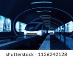 concept of high speed magnetic... | Shutterstock . vector #1126242128