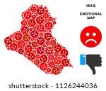 emotion iraq map mosaic of sad... | Shutterstock .eps vector #1126244036