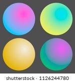 holpgraphic gradient sphere ... | Shutterstock .eps vector #1126244780