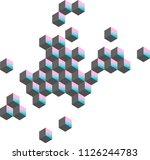 unreal shapes  vector | Shutterstock .eps vector #1126244783