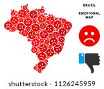 emotion brazil map composition... | Shutterstock .eps vector #1126245959