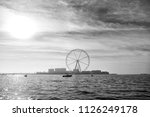 ferris wheel in dubai  united... | Shutterstock . vector #1126249178