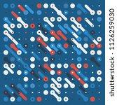 generative random pattern art... | Shutterstock .eps vector #1126259030