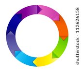 concept of colorful circular... | Shutterstock . vector #112626158