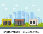 set of vector flat design... | Shutterstock .eps vector #1126266953