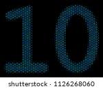 halftone ten digits text... | Shutterstock .eps vector #1126268060