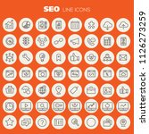 big seo icon set | Shutterstock .eps vector #1126273259