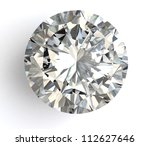 diamond  on white background... | Shutterstock . vector #112627646