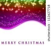fantastic christmas wave design ... | Shutterstock . vector #112627718