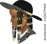 african woman. african american.... | Shutterstock .eps vector #1126279469