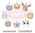 vector cute poster with festive ... | Shutterstock .eps vector #1126285829