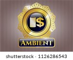 shiny badge with stack of... | Shutterstock .eps vector #1126286543