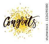 congrats vector phrase... | Shutterstock .eps vector #1126290380