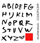 vector hand drawn alphabet.... | Shutterstock .eps vector #1126291349