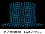 halftone gentleman hat mosaic...   Shutterstock .eps vector #1126294430