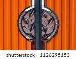 wrought iron gates  ornamental... | Shutterstock . vector #1126295153