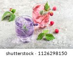 drink with raspberries ... | Shutterstock . vector #1126298150