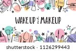 wake up and makeup. cosmetics... | Shutterstock .eps vector #1126299443