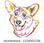 colorful decorative portrait of ... | Shutterstock .eps vector #1126301156