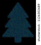 halftone fir tree collage icon... | Shutterstock .eps vector #1126302689