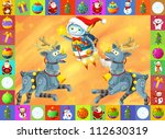 the happy christmas scene  ...   Shutterstock . vector #112630319