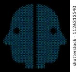 halftone dual face collage icon ... | Shutterstock .eps vector #1126313540