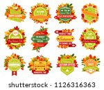 autumn sale icons and tag... | Shutterstock .eps vector #1126316363
