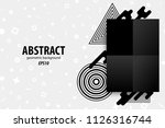 business abstract geometric... | Shutterstock .eps vector #1126316744