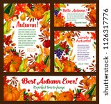 autumn harvest posters or... | Shutterstock .eps vector #1126317776