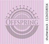 offspring pink emblem. retro   Shutterstock .eps vector #1126318016