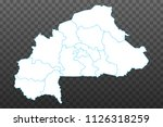 map of burkina faso. vector... | Shutterstock .eps vector #1126318259