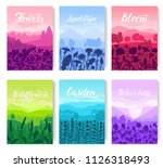 beautiful flowers on the... | Shutterstock .eps vector #1126318493