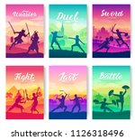 martial arts of different... | Shutterstock .eps vector #1126318496